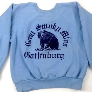 Vtg 70s sweater great smokey mountains Tennessee
